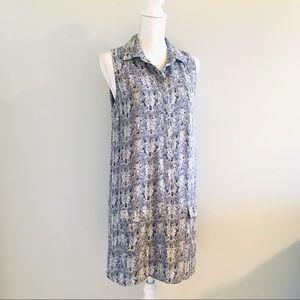 Artisan NY Gray Snakeskin Print Sleeveless Dress